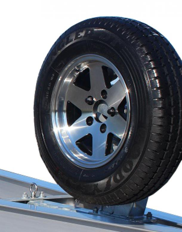 MOUNTED SPARE WHEEL